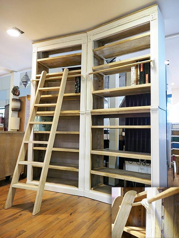 Librerie etniche prezzi on line librerie con scala for Scala in legno shabby
