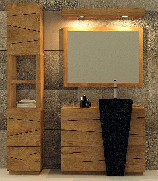 Arredo bagno etnico componibile for Arredo bagno in legno