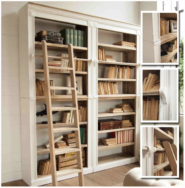 Libreria shabby con scala in offerta prezzi convenienza