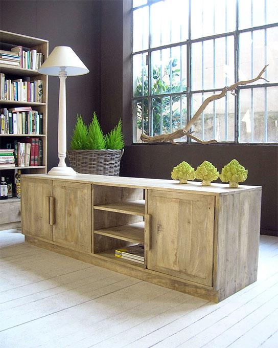 mobile basso porta tv in legno massello prezzo offerta