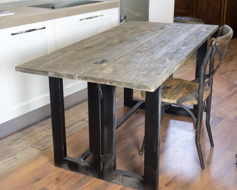 Tavolo industrial grey nuovimondi - Tavolo stile industriale ...