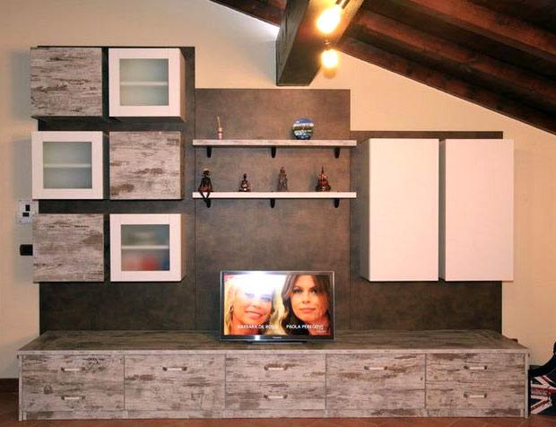 Soggiorni etnici pareti attrezzate soggiorno componibile - Mobili a parete per soggiorno ...