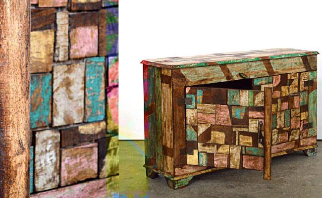 Mobili legno riciclato arredo ecocreativo mobili riciclati for Riciclo arredo