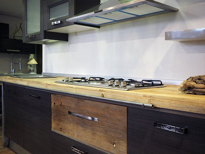 Cucina industrial cucina moderna in stile industriale componibile - Cucina stile vintage ...
