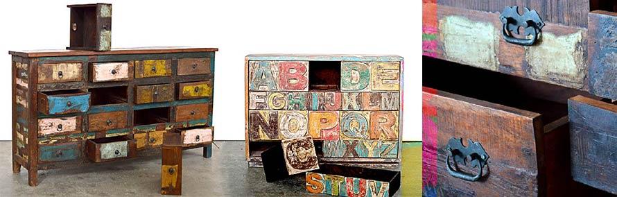 Legno riciclato mobili