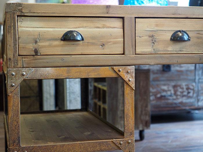 Scrivania industrial vintage ferro legno nuovimondi - Mobili in ferro vintage ...