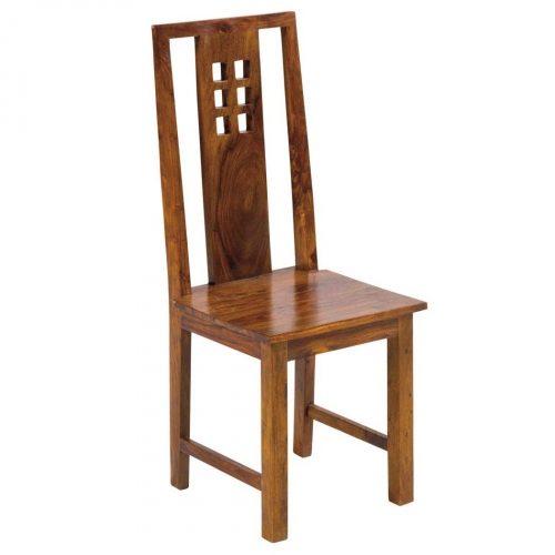 sedia etnica legno massello