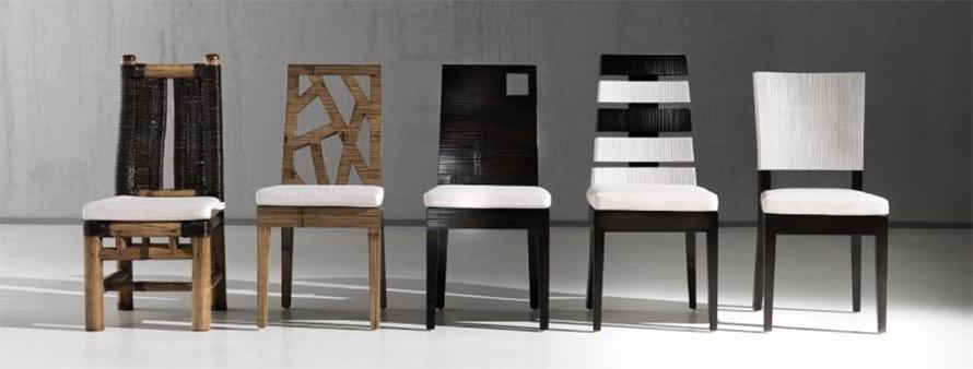 Sedie etniche legno massello crash bambu - Sedie in legno design ...