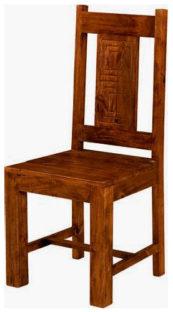 sedie etniche legno massello