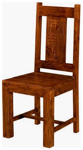 Sedia stile etnico in legno massello