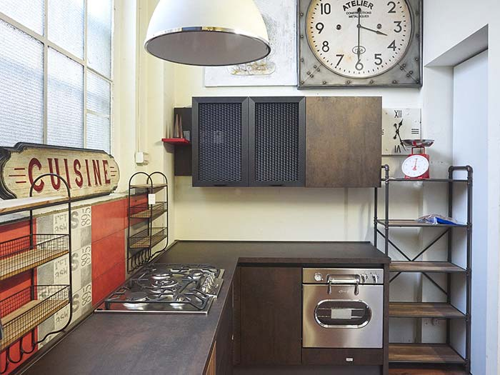 Cucina industrial cucina moderna in stile industriale for Industrial chic style
