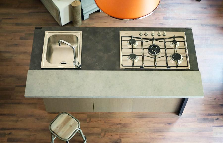cucina isola industrial