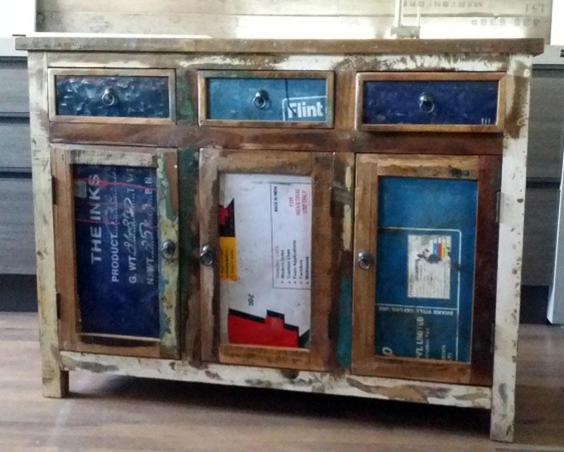 Credenza Rustica Vintage : Mobile vintage bagno stile industrial anta legno class