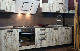 Cucina Stile Industrial In Offerta Top In Vero Legno - Cucina Stile ...