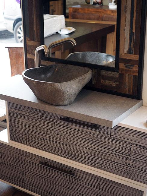 mobile bagno etnico in bambu