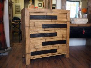 cassettiera bambu