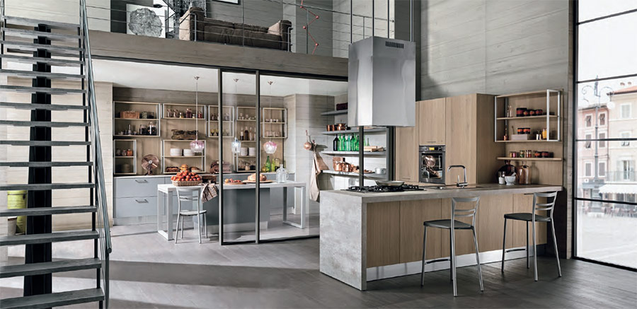 Arredamenti per loft moderni cucine zona living for Foto di arredamenti moderni
