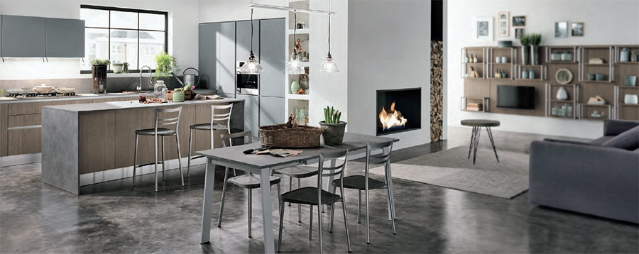 arredamenti per cucina loft
