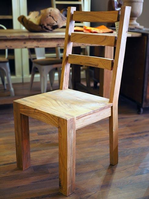 sedia stile etnico in legno massello nuovimondi