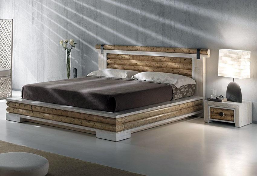 Letto isayto bianco in bambu offerta letto etnico a ribalta for Camere da letto moderne prezzi bassi