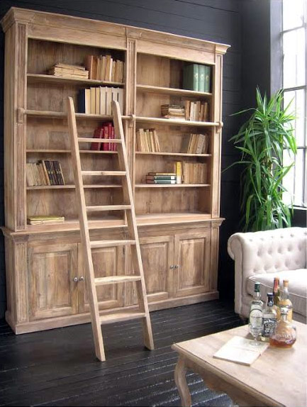 Libreria con scala west coast nuovimondi for Scala in legno shabby