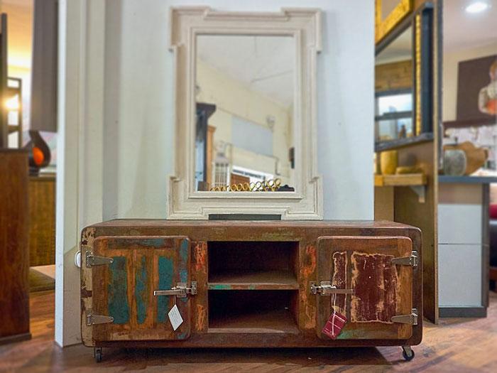 Tavolini Etnici Bassi : Mobile basso recycle vecchia ghiacciaia nuovimondi