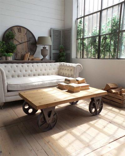 Tavolino industrial vintage nuovimondi - Ruote per mobili vintage ...
