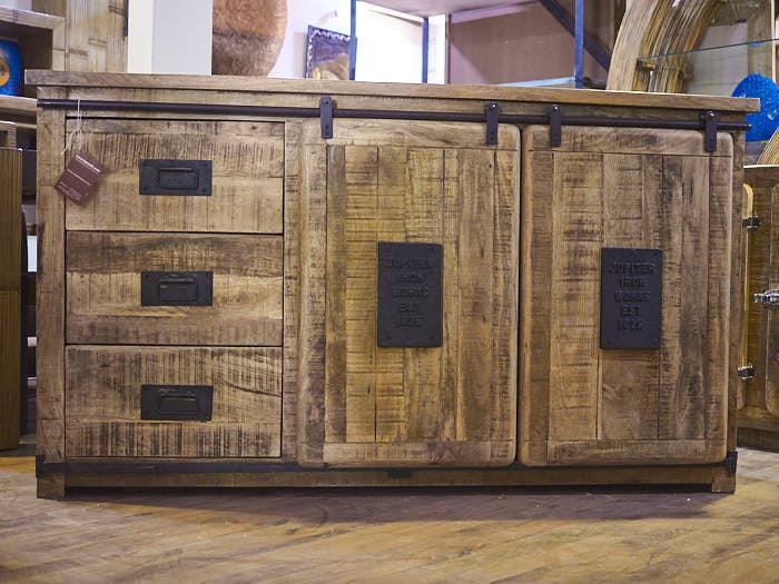 Cucine Moderne Home : Mobile credenza industrial chic legno massello e ferro