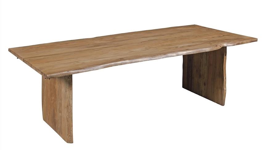 Tavolo primitive fisso in legno massello nuovimondi for Tavolo legno teak