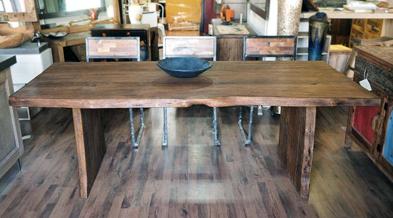 Tavolo primitive fisso in legno massello di quercia - nuovimondi