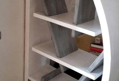 libreria rotonda in bamboo