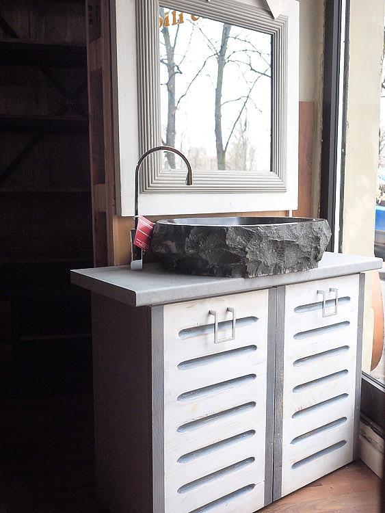 Mobile bagno legno riciclato - nuovimondi