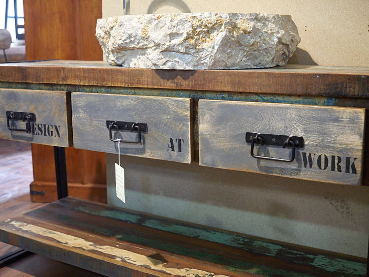 Mobile bagno stile industrial offerta prezzo on line legno e ferro