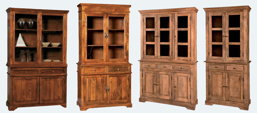 credenze alte vetrine vendita on line prezzi offerta legno