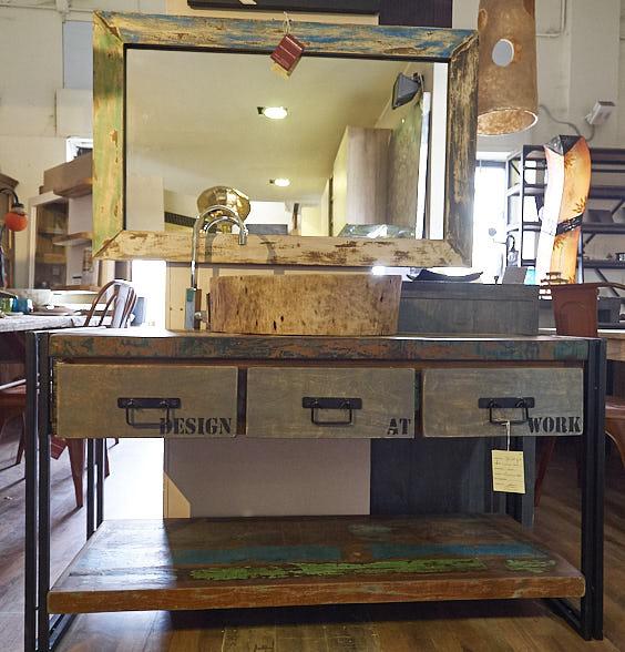 Mobile bagno stile industrial offerta prezzo on line legno - Cucine stile industriale vintage ...