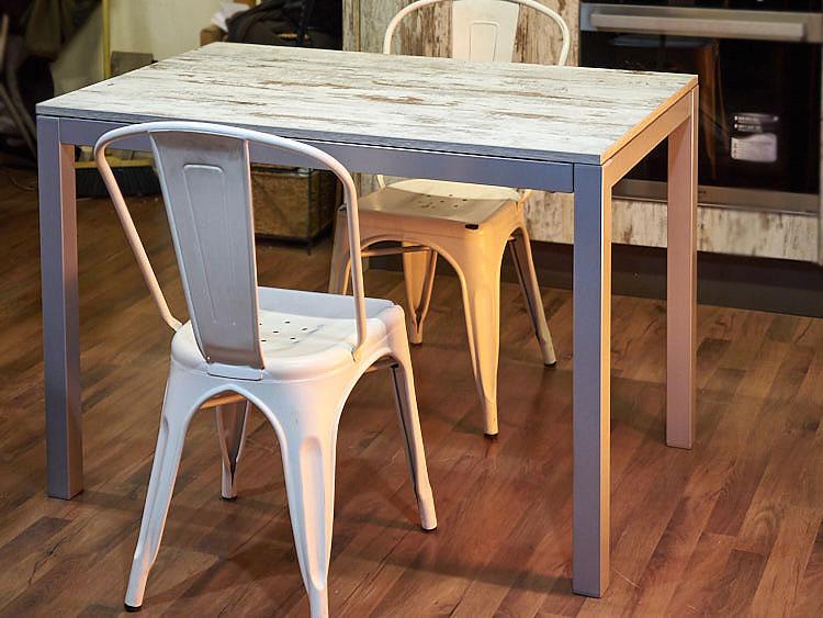 Tavolo allungabile piano in legno anticato nuovimondi for Tavolo allungabile offerta
