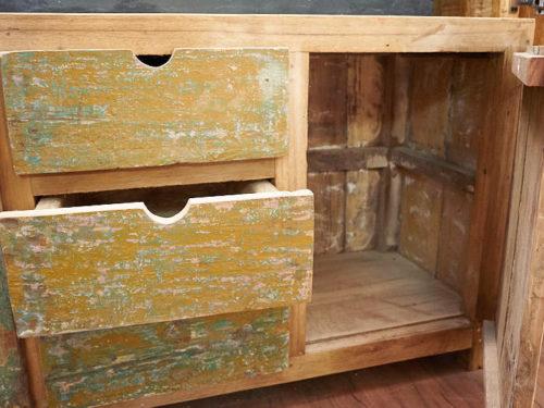 credenza legno riciclato