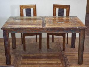 tavoli allungabili legno massello in stile industrial vintage ... - Tavolo In Legno Massiccio Prezzi