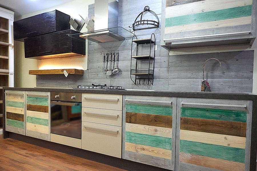 Cucina stile vintage moderna cucine retr componibili su misura - Cucine etniche arredamento ...