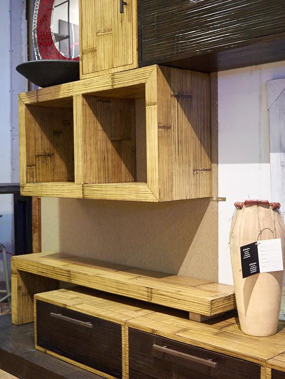 Parete soggiorno crash bambu offerta online prezzo outlet stile etnico - Soggiorno stile etnico ...