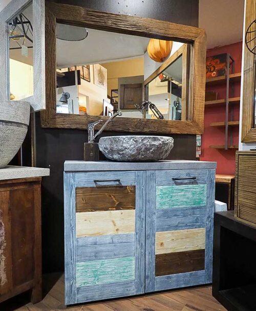 mobile bagno legno riciclato