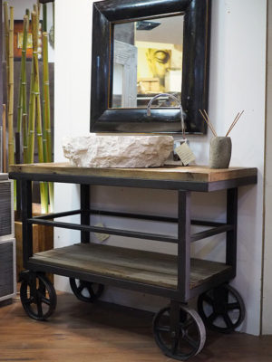Stile industriale offerte prezzi vendita mobili industrial - Specchio stile industriale ...