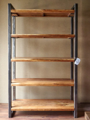 Libreria legno ferro stile industriale offerta on line for Mobili in offerta on line