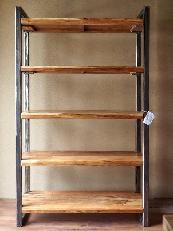 Libreria legno ferro stile industriale offerta on line - Mobili in offerta on line ...
