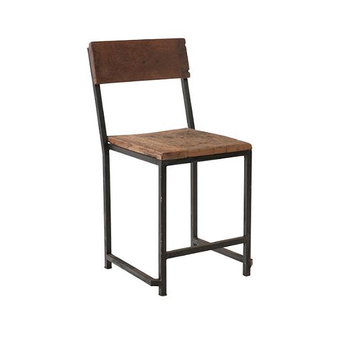 Sedie In Ferro E Legno.Sedia Stile Industriale Legno E Ferro In Offerta On Line Prezzo