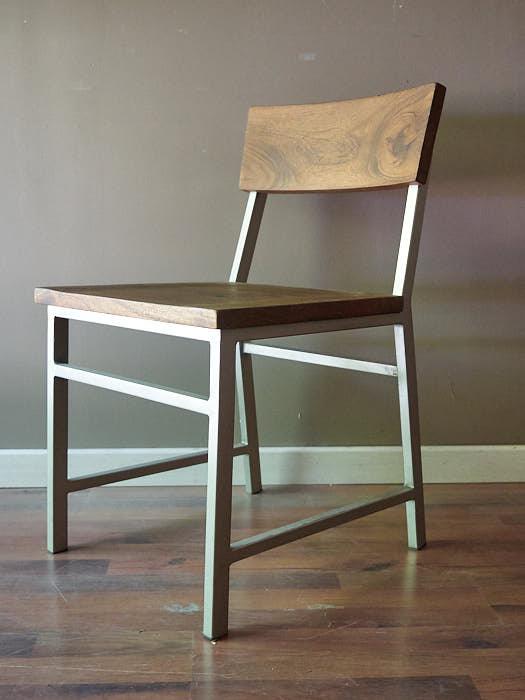 Sedia in teak e ferro sedia robusta legno massello di teak for Sedie ferro legno