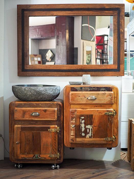 Mobile bagno retro stile vintage arredo bagno on line prezzo - Mobili bagno retro ...
