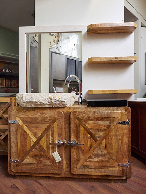 Mobile bagno vintage completo di specchio offerta arredo bagno for Mobili di design in offerta