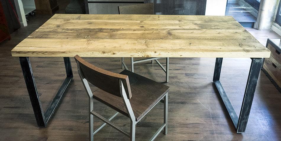 Tavoli industriali legno ferro offerta tavolo industriale on line - Tavolo legno e ferro ...