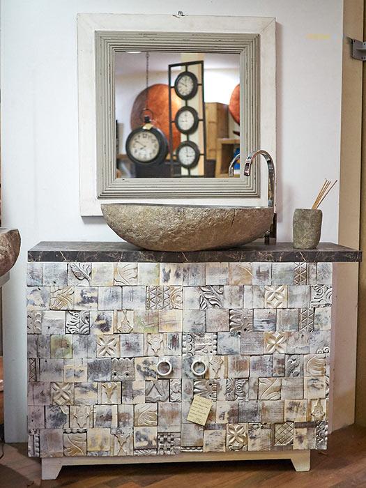 Mobile bagno bianco stile etnico offerta prezzo arredo bagno - Cucine stile etnico ...
